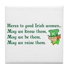 Irish Women Tile Coaster