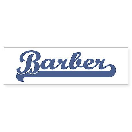 Barber (sport-blue) Bumper Sticker