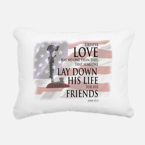 Unique Veteran Rectangular Canvas Pillow