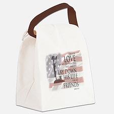 Cute Patriotic Canvas Lunch Bag