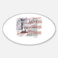 Unique Memorial day Sticker (Oval)