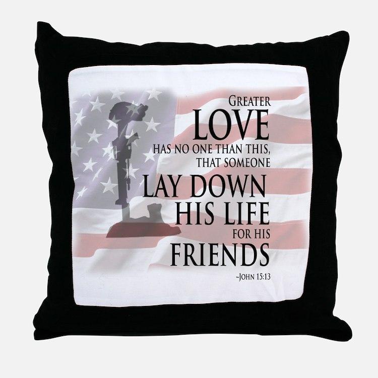 Cute Military Throw Pillow