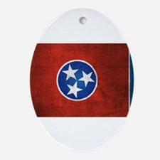 Tennessee State Flag Ornament (Oval)