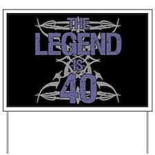 Men's Funny 40th Birthday Yard Sign