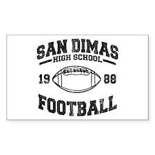 SAN DIMAS HIGH SCHOOL FOOTBALL Sticker (Rectangula