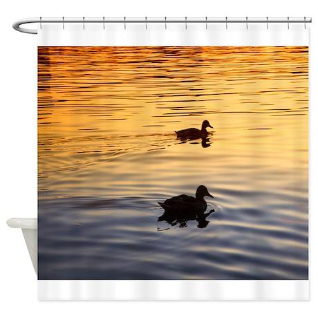 Mallard duck shower curtain reanimators