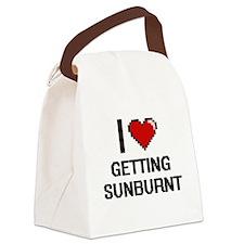 I love Getting Sunburnt Canvas Lunch Bag