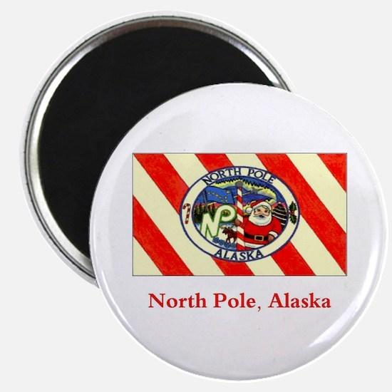 "North Pole AK Flag 2.25"" Magnet (10 pack)"