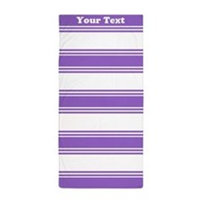 Classic Purple Stripes Beach Towel