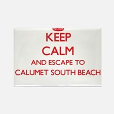Keep calm and escape to Calumet South Beac Magnets