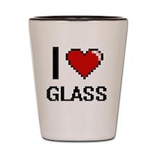 I love Glass Shot Glass