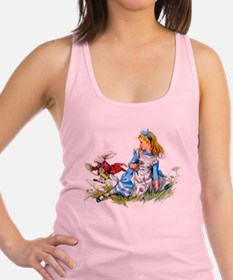 Alice and the White Rabbit Racerback Tank Top