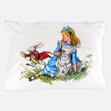 Alice and the White Rabbit Pillow Case