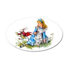 Alice and the White Rabbit Wall Decal