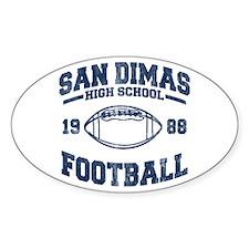 SAN DIMAS HIGH SCHOOL FOOTBALL Oval Decal