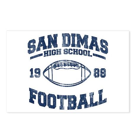 SAN DIMAS HIGH SCHOOL FOOTBALL Postcards (Package