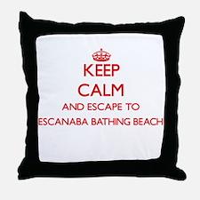 Keep calm and escape to Escanaba Bath Throw Pillow