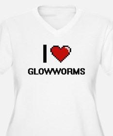 I love Glowworms Plus Size T-Shirt