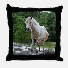 Assateague horse 2 Throw Pillow