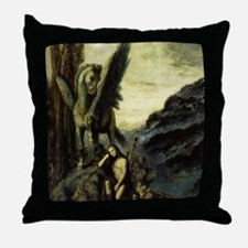 Unique Winged horse Throw Pillow