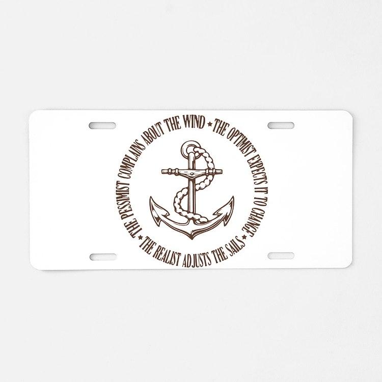 The Realist Sailor Aluminum License Plate