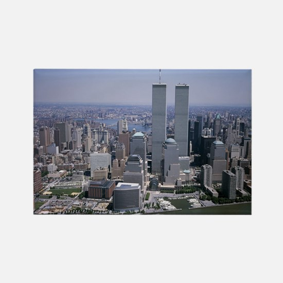 Cute New york city twin towers Rectangle Magnet