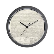 Cute Declaration independence Wall Clock