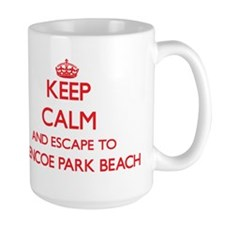 Keep calm and escape to Glencoe Park Beach Il Mugs