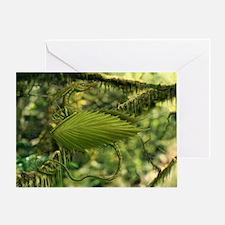 Cute Leaf Dragon Greeting Card
