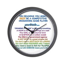 """ten reasons"" Wall Clock"