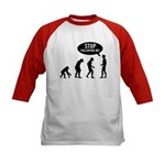 Evolution is following me Kids Baseball Jersey