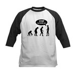 Evolution is following me Kids Baseball Jersey - Availble Sizes:S (6-8),M (10-12),L (14-16) - Availble Colors: Black/White,Red/White,Navy/White