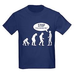 Evolution is following me Kids Dark T-Shirt