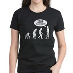 Evolution is following me Women's Dark T-Shirt - Availble Sizes:Small,Medium,Large,X-Large,2X-Large (+$3.00) - Availble Colors: Black,Red,Caribbean Blue,Pink,Charcoal Heather,Kelly,Navy