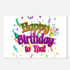 Happy Birthday To You Postcards (Package of 8)