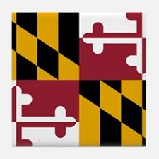 Maryland State Flag Tile Coaster