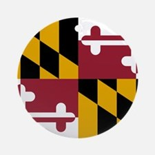 Maryland State Flag Ornament (Round)