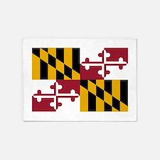 Maryland State Flag 5'x7'Area Rug