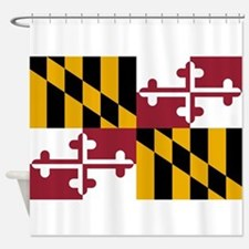Maryland State Flag Shower Curtain