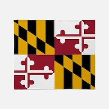 Maryland State Flag Throw Blanket