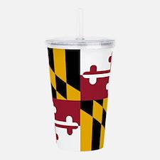 Maryland State Flag Acrylic Double-wall Tumbler