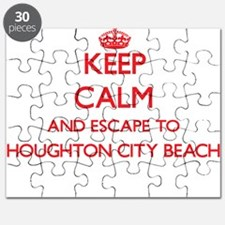 Keep calm and escape to Houghton City Beach Puzzle