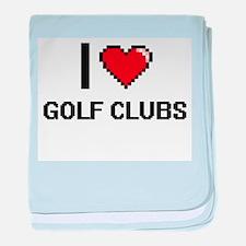 I love Golf Clubs baby blanket