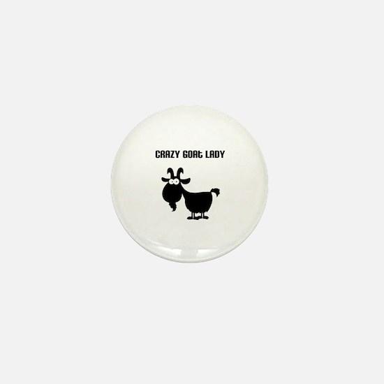Crazy Goat Lady Mini Button