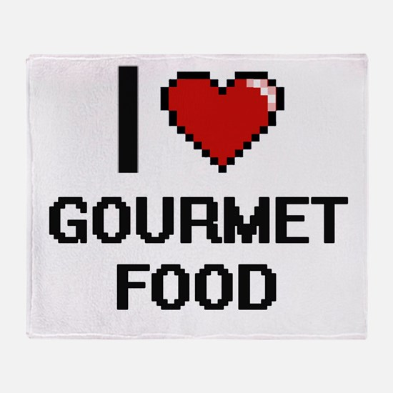 I love Gourmet Food Throw Blanket