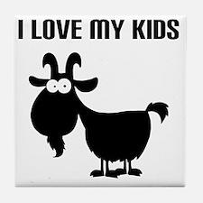 Love Goat Kids Tile Coaster