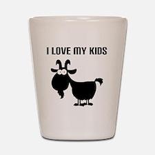 Love Goat Kids Shot Glass