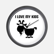 Love Goat Kids Wall Clock