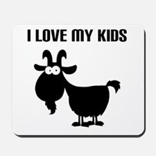 Love Goat Kids Mousepad