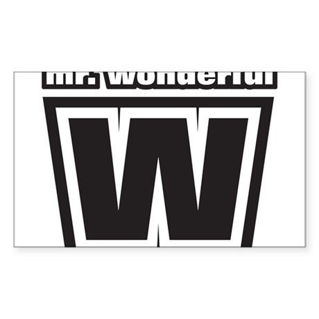 Mr. Wonderful Rectangle Sticker